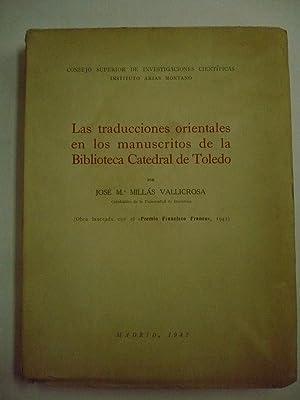 LAS TRADUCCIONES ORIENTALES EN LOS MANUSCRITOS DE: MILLÁS VALLICROSA, JOSÉ