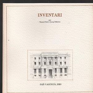 INVENTARI.: BOIX, MANUEL; PALÀCIOS,