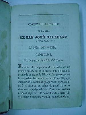 COMPENDIO HISTÓRICO DE LA VIDA DE SAN JOSÉ DE CALASANZ.: CONCEPCIÓN, JOSÉ DE LA.