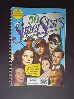 50 SUPER STARS. Life stories, film lists, stills, pinúps, posters, lobby cards.