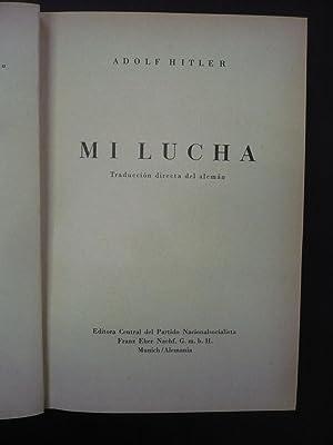 MI LUCHA.: HITLER, ADOLF.