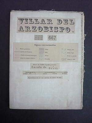 VILLAR DEL ARZOBISPO. HOJA 667. Mapa antiguo.