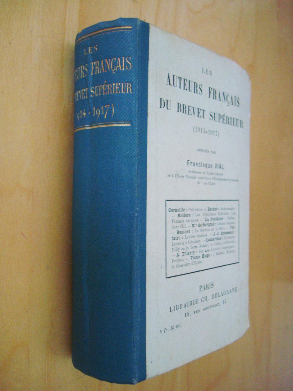 Les Auteurs Francais Du Brevet Superieur
