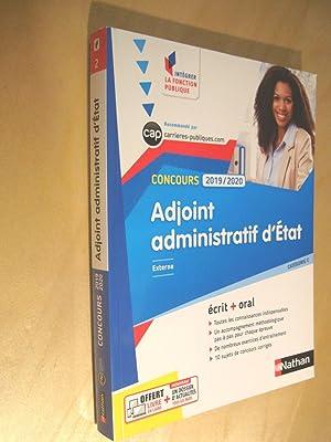 1b946e59a04 Concours 2019 2020 externe catégorie C Adjoint administratif d état écrit +  oral  ...