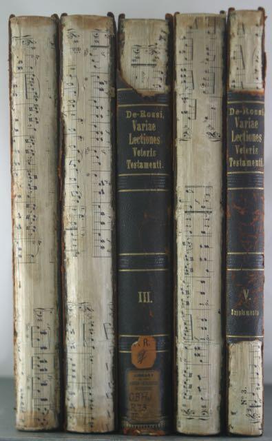 Variae Lectiones Veteris Testamenti; Scholia critica in Veteris Testamenti libros; seu, Supplementa...