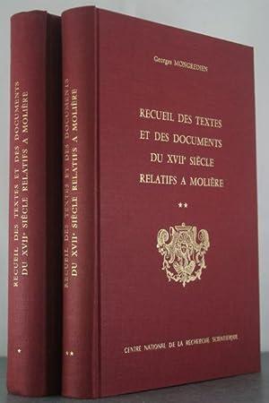 Recueil Des Textes Et Des Documents Du XVII Siecle Relatifs A Moliere