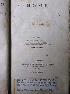 Home. A Poem.: Greenshields, John Boyd