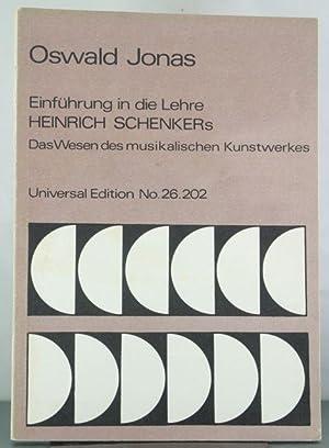 Einführung in die Lehre Heinrich Schenkers: Jonas, Oswald