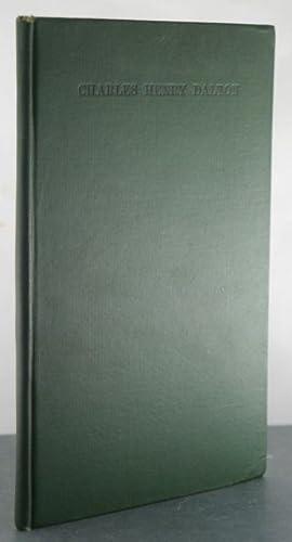 Memoir of Charles Henry Dalton [With Manuscript Letter]: Merriman, Roger Bigelow