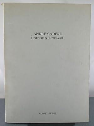 Andre Cadere: Histoire d'un Travail