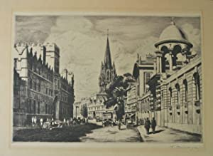 Signed Etching of London by Thomas Mackenzie [English, 1887-1944]: Mackenzie, Thomas