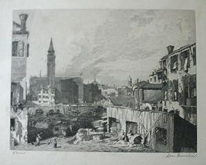Venise [Original Etching by Leon Gaucherel]: Gaucherel, Leon
