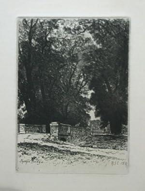 Sheeps Bridge [Original Etching by Richard Chattock]: Chattock, Richard