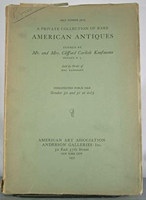 Early American Furniture from New England, Pennsylvania, New York, Together with an Important Group...