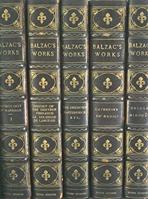 Balzac's Works: Definitive Edition [53 Volumes Finely Bound, Complete]: Balzac, Honore De