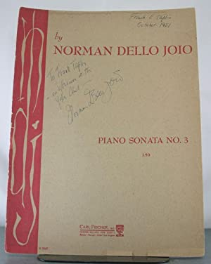 Piano Sonata No. 3 [Signed Copy]: Dello Joio, Norman