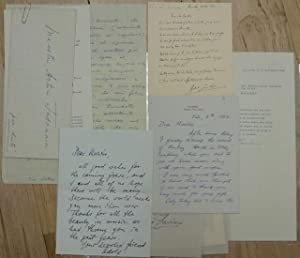 A Collection of Nine Letters to Arturo Toscanini from Various Musicians, Conductors and Colleagues ...