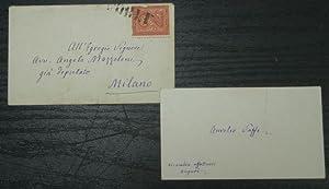 Autograph Card, with Stamped Envelope: Saffi, Aurelio