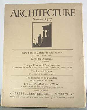 Architecture, Vol. LVI No. 5. November, 1927.: Mumford, Lewis (et al)