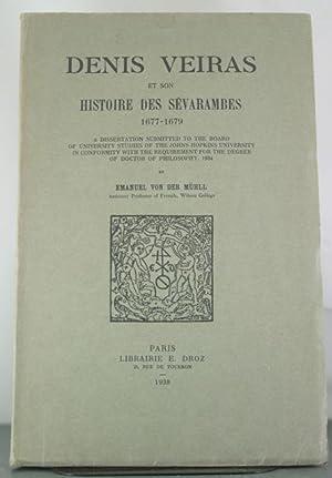 Denis Veiras et son Histoire des Sévarambes 1677-1679.