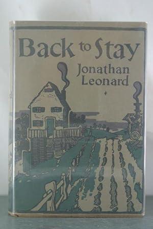 Back to Stay: Leonard, Jonathan