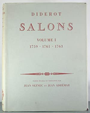 Salons, Volume I: 1759, 1761, 1763: Diderot