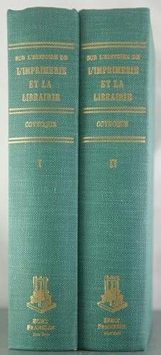 Inventaire de la Collection Anisson sur l'Histoire de l'Imprimerie et la Librairie ...