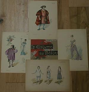 Le Costume au Theatre et a la Ville: Le Comtesse Sarah, Francillon: Pochoir]; Mesples, Paul-Eugene;...