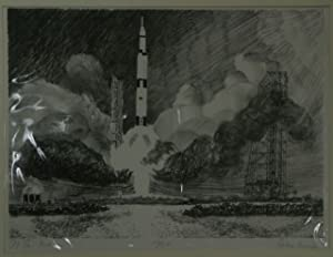 "To The Moon"" [Original Signed Lithograph by John Miegs]: Miegs, John"