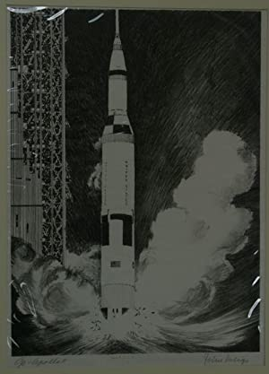 "Go Apollo II"" [Original Signed Lithograph by John Miegs]: Miegs, John"