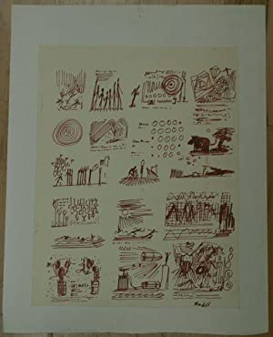Series of Seventeen Vignette Illustrations on a Single Sheet by Frank Modell (American, 1927 - ): ...