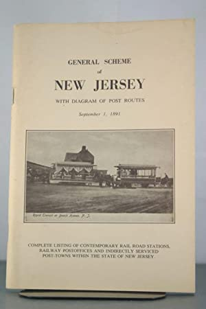 General Scheme of New Jersey with Diagram of Post Routes September 1, 1891: CO, HISTORICAL ...