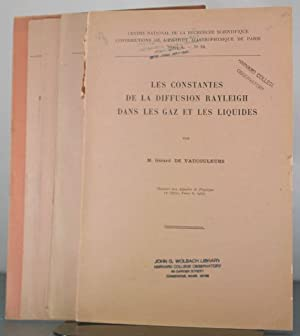 Collection of Eight Offprints, 1948-1950: Vaucouleurs, Gerard De