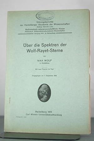 Uber die Spektren der Wolf-Rayet-Sterne: Wolf, Max