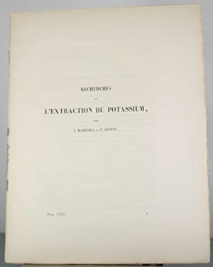 Recherches sur l'extraction du Potassium: Mareska, J.; Donny, F.