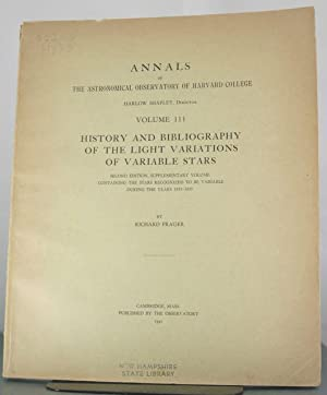 History and Bibliography of the Light Variations of Variable Stars. Second Edition, Supplementary ...