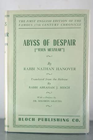 """Abyss of Despair [""""Yeven Metzulah""""]: The Famous 17th Century Chronicle Depicting Jewish ..."""