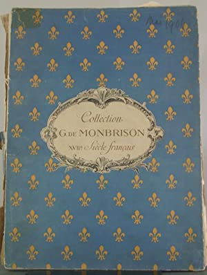 Collection de M. de Monbrison. Catalogue de tableaux anciens et Portraits historiques du XVIIe ...