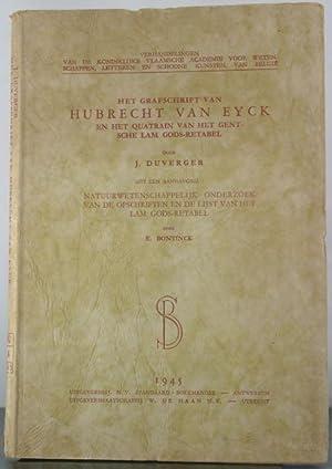 Het grafschrift van Hubrecht van Eyck en het quatrain van het Gentsche Lam Gods-Retabel: Bontinck, ...