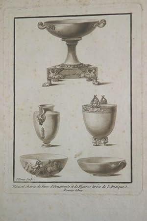 Recueil de vases d'ornaments et figures tirees de l'antique: Willemin, Nicolas Xavier