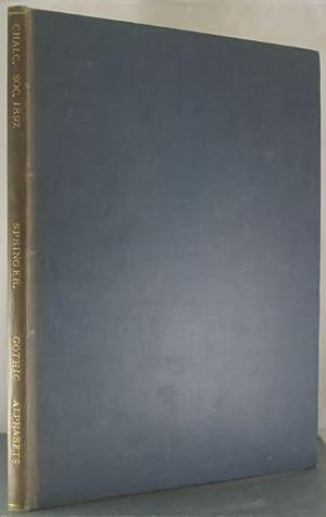 Gothic Alphabets: Springer, Jaro