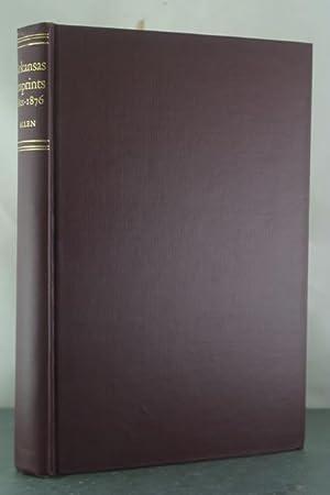 Arkansas Imprints: 1821-1876: Allen, Albert