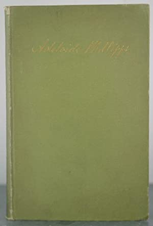Adelaide Phillipps: A Record [With Tipped-In Letter from Author]: Waterston, Mrs. R.C.
