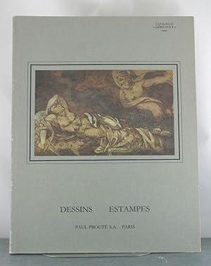Dessins, Estampes Anciennes Du XVI? Au XVIII? Si?cle, Estampes Des XIX? et XX? Si?cles; Catalogue &...