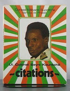 Lt. Colonle Seyni Kountch?: Citations: Kountch?, Seyni
