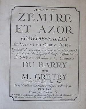 Zemire et Azor: Gretry, Andre - Ernest - Modestre