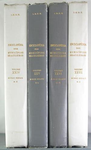 Enciclopedia Dos Municipios Brasileiros: Minas Gerais [Four Volumes]: Pires Ferreira, Jurandyr [...