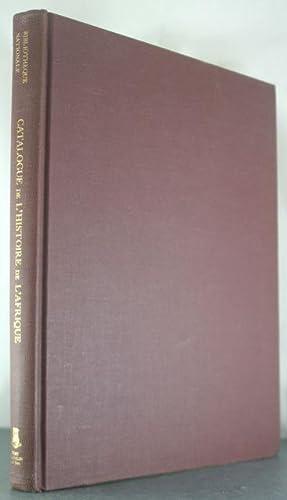 Catalogue de L'Histoire de L'Afrique: Nationale, Bibliotheque