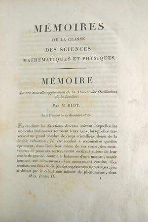 Memoires de la Classe des Sciences Mathematiques: Biot, Maurice (et