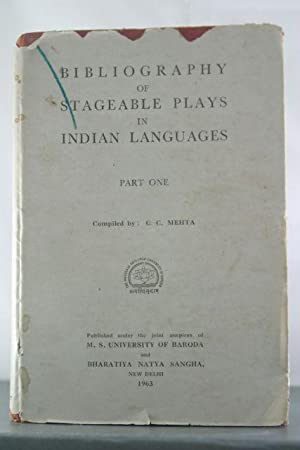 Bibliography of stageable plays in Indian languages: MEHTA, CHANDRAVADAN CHIMANLAL
